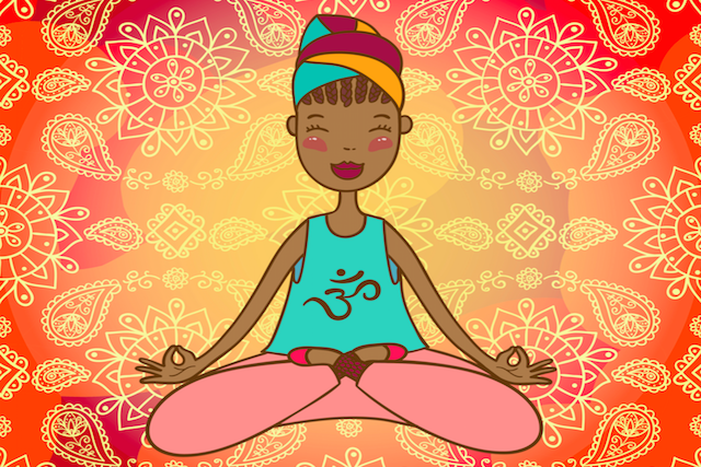 Happy-Meditating-Woman
